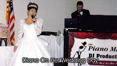 Diana on her wedding day.
