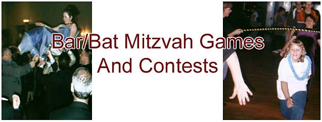 Bar/Bat Mitzvah Games and Contest - The Piano Man's DJ Productions - Albany NY Wedding, Mitzvah Disc Jockey Service